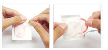 避妊のためのコンドームの付け方