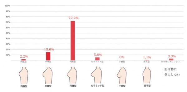 美容外科『東京イセアクリニック』で行われた男が好きな胸の形アンケート結果