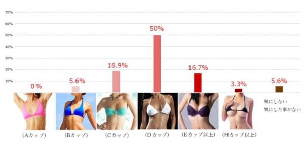 美容外科『東京イセアクリニック』で行われた男が好きな胸の大きさアンケート結果