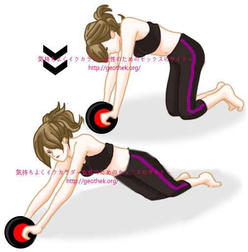 騎乗位を上手くするトレーニング法その4【腹筋ローラー】