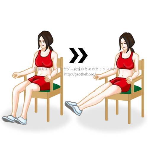 騎乗位を上手くするトレーニング法その3【レッグエクステンション】