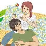 睾丸の気持ちいい触り方を会話しながらお手玉をしている女性