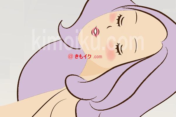 LCラブコスメの細いバイブ『メシベ』を使ったオナニーで気持ち良さを感じている女性