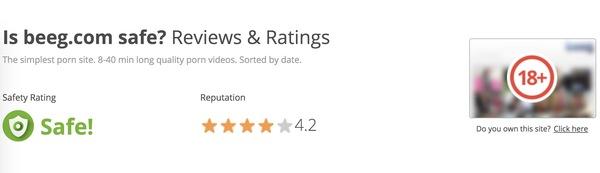 アメリカの無料アダルト動画サイト『beeg』の評価