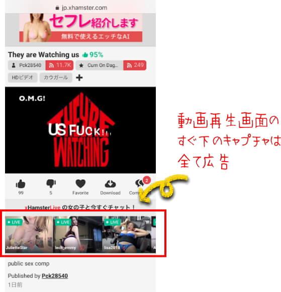 海外の無料アダルト動画サイトxhamsterのライブチャット画像