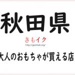 【秋田県の大人のおもちゃ店11店舗】アダルトグッズを安心安全最安値で買うならココ!