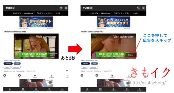 海外のアダルト動画サイトTube8の広告画像