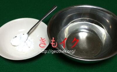 お湯で作る片栗粉ローションの材料