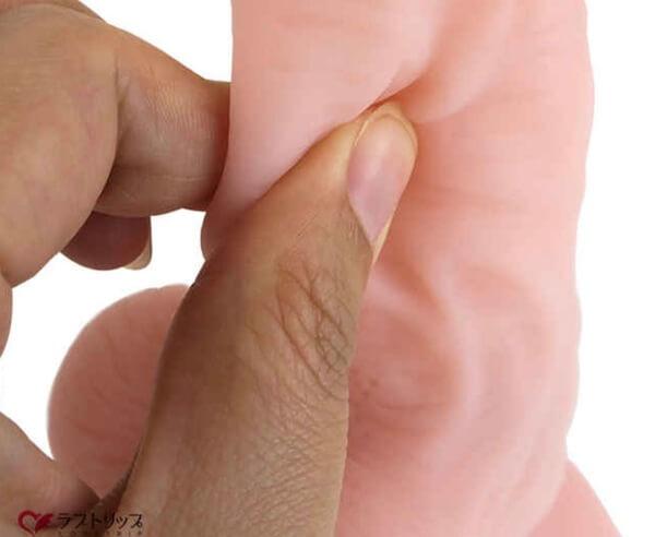 リアルな皮の造形『ダブルスキンディルド』のアップ画像