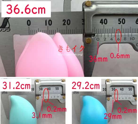 ピンクブルームの正確なサイズ計測画像
