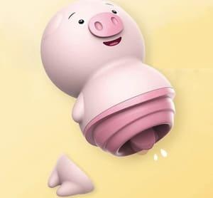 可愛いベビーピンクの豚ローター