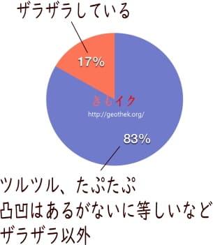 Gスポットの肌触りアンケートグラフ