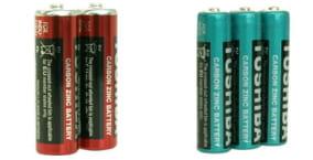 LCラブコスメのバイブに使うマンガン電池