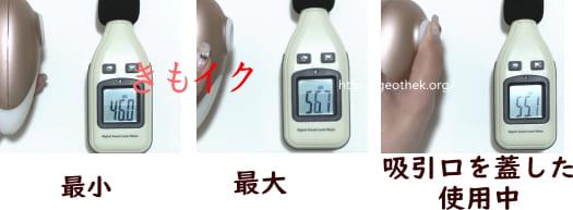 サティスファイヤ・デラックスの騒音測定画像