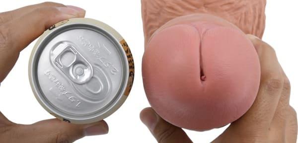 空き缶サイズの巨大ディルド 9インチチャビー